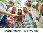 technology  travel  tourism ... | Shutterstock . vector #421297402