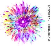abstract color splash and... | Shutterstock .eps vector #421302106