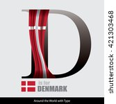 vector letter d is for denmark... | Shutterstock .eps vector #421303468