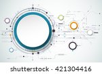 vector abstract futuristic... | Shutterstock .eps vector #421304416