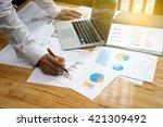 a businessman working plan the... | Shutterstock . vector #421309492