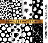 set of 8 seamless patterns with ... | Shutterstock .eps vector #421310536