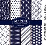 set of marine and nautical... | Shutterstock .eps vector #421311532