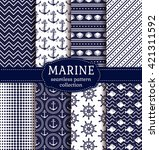 set of marine and nautical... | Shutterstock .eps vector #421311592