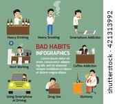 popular bad habits infographics ... | Shutterstock .eps vector #421313992