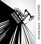 oil industry background with... | Shutterstock .eps vector #421314982