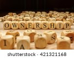 Ownership Word Written On Wood...