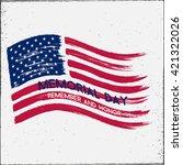 american flag. us flag. us flag ... | Shutterstock .eps vector #421322026