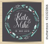 save the date  wedding... | Shutterstock .eps vector #421322866