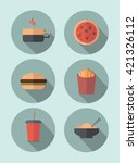 food icons | Shutterstock .eps vector #421326112