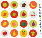 set of cartoon fruits on the... | Shutterstock .eps vector #421329976