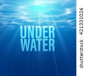 vector underwater background.... | Shutterstock .eps vector #421331026