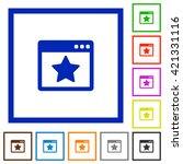 set of color square framed...
