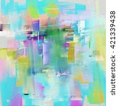 painted palette knife acrylic... | Shutterstock . vector #421339438