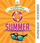 welcome summer design. | Shutterstock . vector #421343002