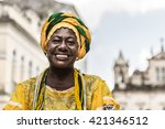 brazilian woman of african... | Shutterstock . vector #421346512