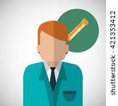 medical care design. health... | Shutterstock .eps vector #421353412