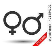 gender icon. flat icon of... | Shutterstock .eps vector #421354102