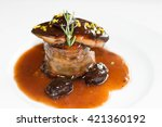 Detail Of A Steak With Foie...