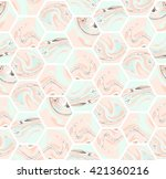 geometric seamless repeating... | Shutterstock .eps vector #421360216