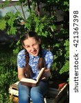 girl reading | Shutterstock . vector #421367398