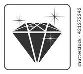 diamond icon with glitter....   Shutterstock .eps vector #421372342