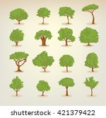collection of different kinds... | Shutterstock .eps vector #421379422