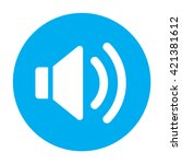 sound icon flat alarm blue...