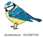 illustration bird titmouse... | Shutterstock . vector #421387192