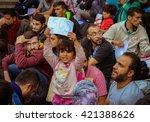 budapest  hungary   september 5 ...   Shutterstock . vector #421388626