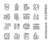 set line icons of... | Shutterstock .eps vector #421389805