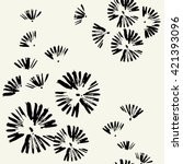 seamless pattern with brush... | Shutterstock .eps vector #421393096