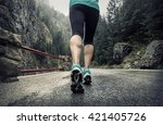 running on the road around... | Shutterstock . vector #421405726
