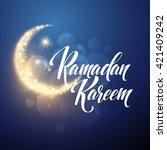 ramadan kareem greeting... | Shutterstock .eps vector #421409242