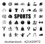 sports icons set | Shutterstock .eps vector #421420972