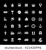 collection shipping ... | Shutterstock .eps vector #421420996
