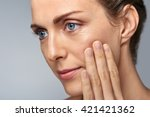attractive middle aged woman... | Shutterstock . vector #421421362