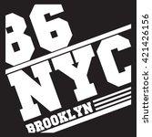 new york  graphic print label | Shutterstock .eps vector #421426156