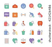 health colored vector icons 3 | Shutterstock .eps vector #421426486