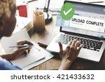 upload complete data uploading... | Shutterstock . vector #421433632
