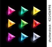 set of cartoon triangle...