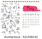 Calendar Page Template For May...