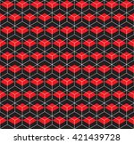 seamless wireframe 3d cube... | Shutterstock .eps vector #421439728