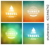 summer holidays retro... | Shutterstock .eps vector #421446742