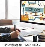 experiment explore try attempt... | Shutterstock . vector #421448152
