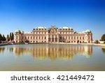 belvedere palace in vienna  ... | Shutterstock . vector #421449472