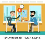 businessmen discussing strategy ... | Shutterstock .eps vector #421452346