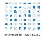 speech bubbles  chat  instant... | Shutterstock .eps vector #421456162