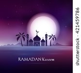 vector illustration ramadan... | Shutterstock .eps vector #421459786
