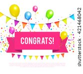 congrats. congratulations... | Shutterstock .eps vector #421468042